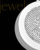 Stainless Abounding Circle Thumbprint Pendant