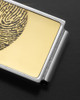 Gold on Silver Stainless Thumbprint Money Clip