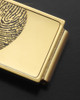 Gold on Gold Stainless Thumbprint Money Clip