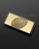 Gold on Black Stainless Thumbprint Money Clip