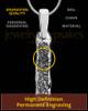Textured Sterling Silver Thumbprint Bar Pendant