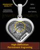 Sterling Silver Raised Heart Thumbprint Pendant