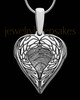 Sterling Silver Wings Thumbprint Pendant