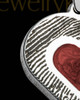 Sterling Silver Small Heart  Ash and Thumbprint Pendant