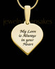 Gold Plated Sterling Silver Small Heart  Ash and Thumbprint Pendant