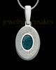 Sterling Silver Small Oval  Ash and Thumbprint Pendant