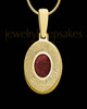 Gold Plated Sterling Silver Small Oval  Ash and Thumbprint Pendant