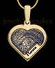 Gold Sterling Silver Raised Heart Thumbprint Pendant