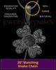 Black Sterling Silver Four Leaf Clover Thumbprint Pendant