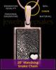 Rose Gold Sterling Silver Rectangle with Raised Thumbprint Pendant