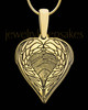 Gold Sterling Silver Wings Thumbprint Pendant