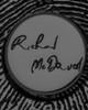 Black Sterling Silver Signature Circle Thumbprint Pendant