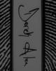 Black Sterling Silver Rectangle Signature Thumbprint Pendant