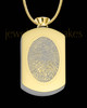 Gold Plated Stainless Stunning Rectangle Thumbprint Pendant