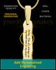 Solid 14K Gold Textured Thumbprint Bar Pendant