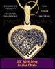 Solid 14K Gold Raised Heart Thumbprint Pendant