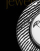 Solid 14K White Gold Signature Circle Thumbprint Pendant
