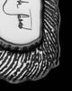 Solid 14K White Gold Small Signature Dog Tag Thumbprint Pendant