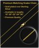 Solid 14K Gold Small Signature Dog Tag Thumbprint Pendant