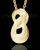 Cremation Ash Necklace  Gold Plated Infinity Cremation Keepsake
