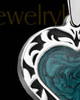 Solid 14K White Gold Paradise Heart Ash Jewelry