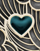 Solid 14K Gold Blue Boxed Heart Ash Jewelry