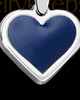 Solid 14K White Gold Baltic Heart Ash Jewelry