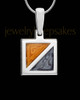 Solid 14K White Gold Love Squared Ash Jewelry
