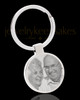 Photo Engraved Stainless Steel Round Cremation Keychain