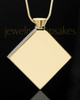 Stainless Gold Plated Beloved Diamond Cremation Keepsake