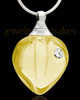Keepsake Pendant Yellow Magic Heart Glass Locket