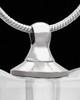 Necklace Urn Pristine Heart Glass Locket