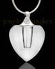 Keepsake Jewelry Transparent Heart Glass Locket