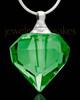Cremains Jewelry Jade Teardrop Glass Locket