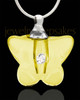 Memorial Keepsake Yellow Flurry Glass Locket