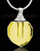 Cremains Jewelry Soft Yellow Teardrop Glass Locket