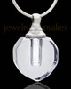 Pendant Keepsake Sheer Teardrop Glass Locket
