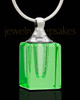 Memorial Jewelry Green Darling Glass Locket