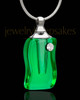 Cremation Jewelry Green Delightful Glass Locket