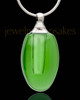 Cremains Jewelry Green Forever Glass Locket
