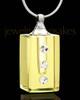 Cremation Charm Golden Dependable Glass Locket