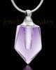 Locket Necklace Lavender Devoted Glass Locket