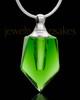 Cremation Keepsake Green Devoted Glass Locket