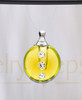 Golden Security Glass Reflection Pendant