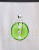Green Security Glass Reflection Pendant