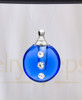 Royal Blue Security Glass Reflection Pendant