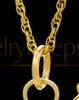 Memorial Urn Pendant Gold Plated Golf Clubs