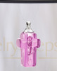 Pink Faithful Cross Glass Reflection Pendant