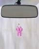Pink Faithful Cross Glass Reflection Pendant