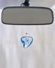 Blue Shapely Heart Glass Reflection Pendant